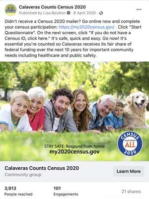 Calaveras Census post