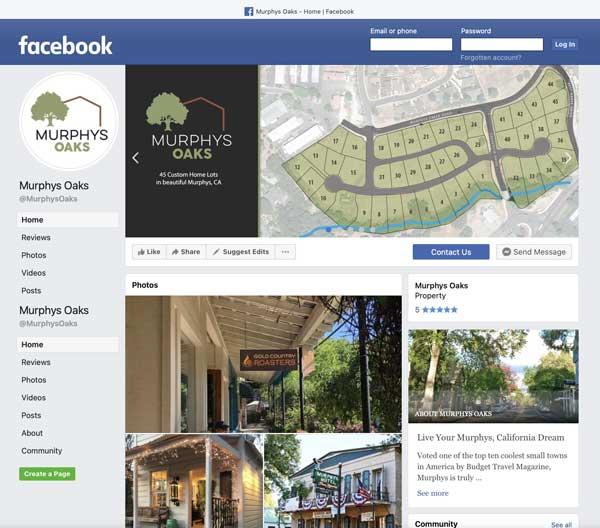 Client: Murphys Oaks Facebook