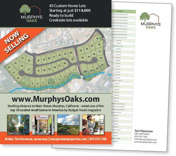 Murphys Oaks sales sheets