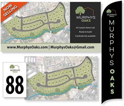 Murphys Oaks signage